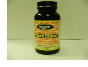 Best-Test Rubber Cement, 4 oz plastic jar, 24 per case.